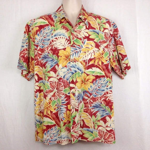 42a0d7b4 Pierre Cardin Mens L Short Sleeve Hawaiian Shirt. M_5ad777912c705d786bea36be
